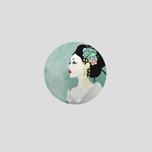 Japanese Woman Mini Button