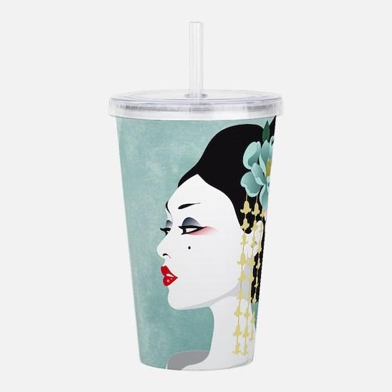 Japanese Woman Acrylic Double-wall Tumbler