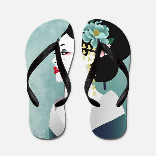 Japanese Woman Flip Flops