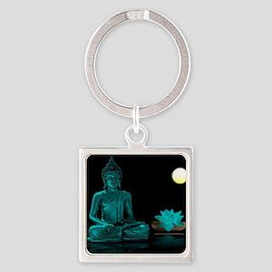 Teal Colour Buddha Keychains