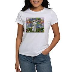 Lilies / Bedlington T Women's T-Shirt