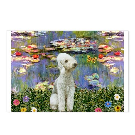 Lilies / Bedlington T Postcards (Package of 8)