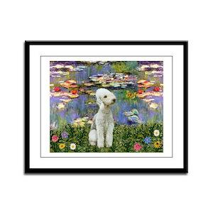 Lilies / Bedlington T Framed Panel Print