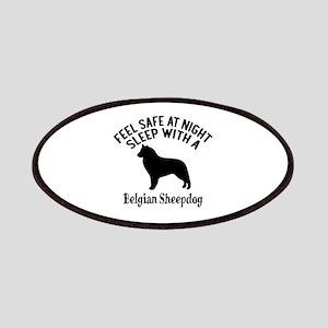 Sleep With Belgian Sheep Dog Designs Patch