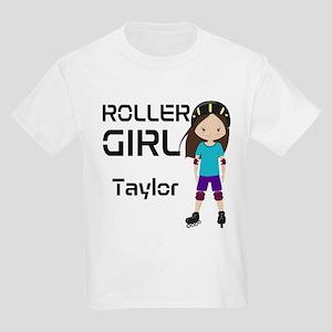 Rollergirl Brunette Kids Light T-Shirt