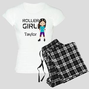 Rollergirl Brunette Women's Light Pajamas