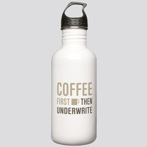 Coffee Then Underwrite Stainless Water Bottle 1.0L