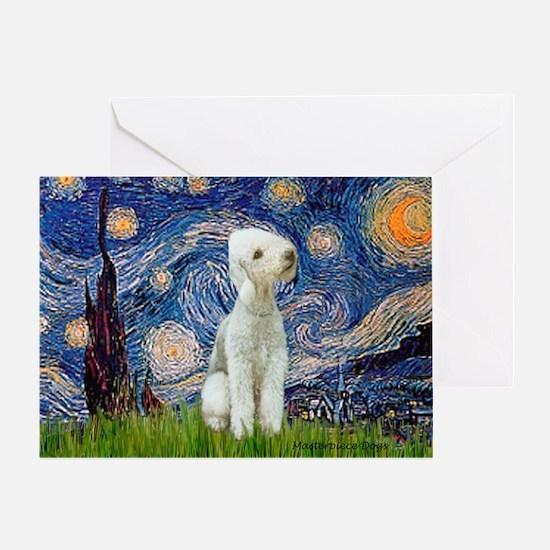 Starry / Bedlington Greeting Card