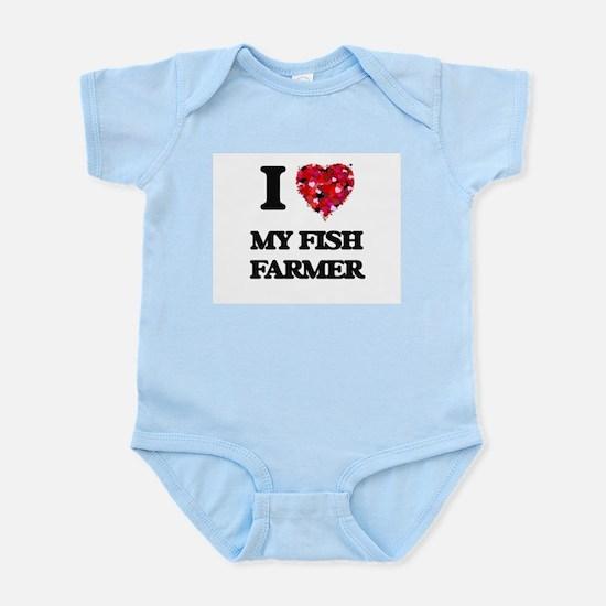 I Love My Fish Farmer Body Suit