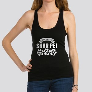 Worlds Best Shar Pei Mom Racerback Tank Top