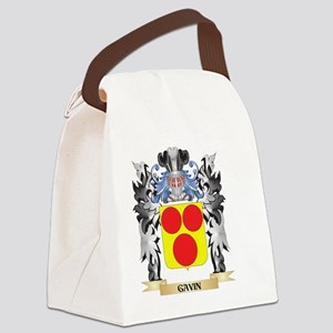 Gavin Coat of Arms - Family Crest Canvas Lunch Bag