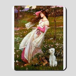 Windflowers/Bedlington T Mousepad