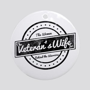 The Veteran's Wife Logo Ornament (Round)