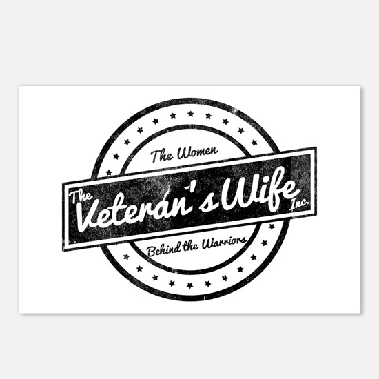 The Veteran's Wife Logo Postcards (Package of 8)