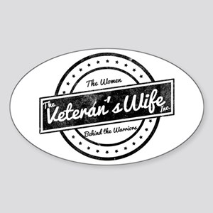 The Veteran's Wife Logo Sticker (Oval)