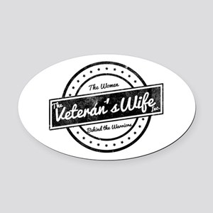 The Veteran's Wife Logo Oval Car Magnet