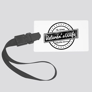The Veteran's Wife Logo Large Luggage Tag