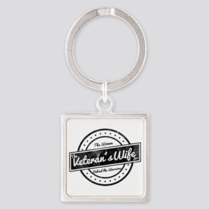 The Veteran's Wife Logo Square Keychain