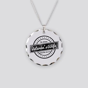 The Veteran's Wife Logo Necklace Circle Charm