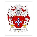 Narvarrete Family Crest Small Poster