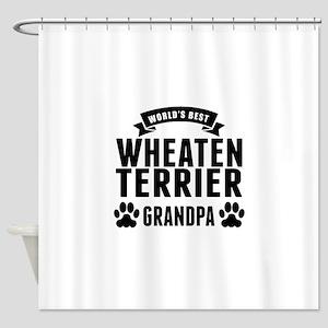 Worlds Best Wheaten Terrier Grandpa Shower Curtain