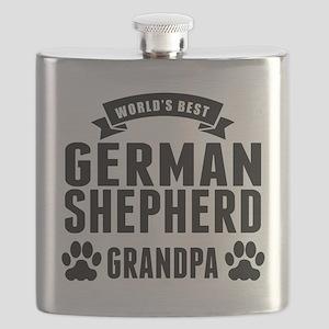 Worlds Best German Shepherd Grandpa Flask