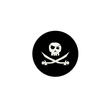 Package of Ten Pirate Skull Mini Buttons