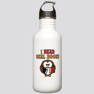 Real Books Owl Stainless Water Bottle 1.0L