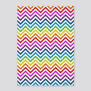 Wild Rainbow Chevron 5'x7'Area Rug