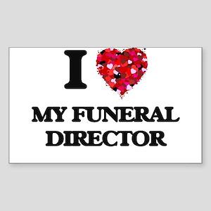 I Love My Funeral Director Sticker