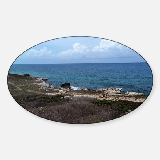Looking out to Sea Sticker (Oval)