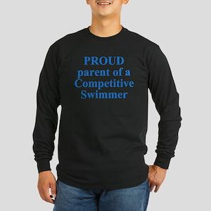 Proud parent of a swimmer Long Sleeve Dark T-Shirt