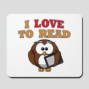 E-Reader Owl Mousepad
