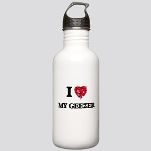 I Love My Geezer Stainless Water Bottle 1.0L