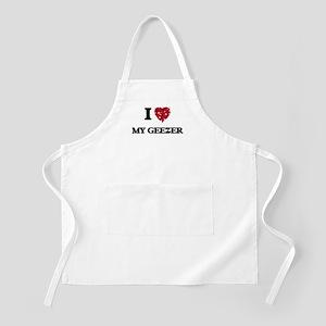 I Love My Geezer Apron