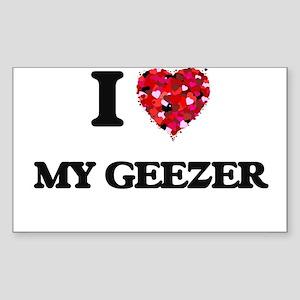 I Love My Geezer Sticker