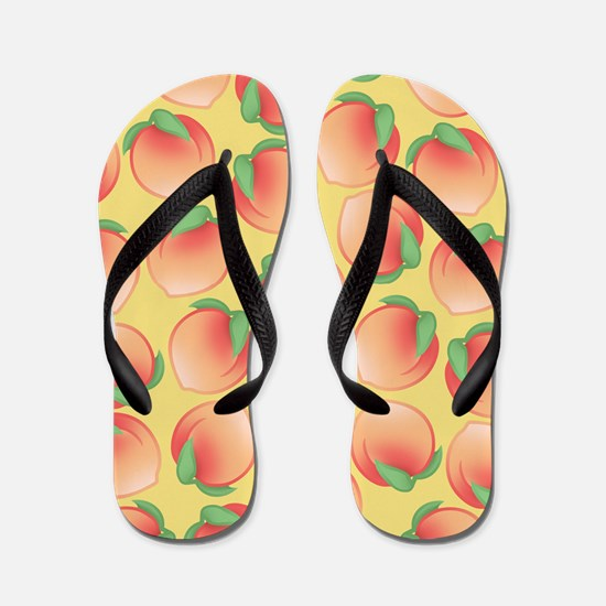 Cute Peach Pattern Flip Flops