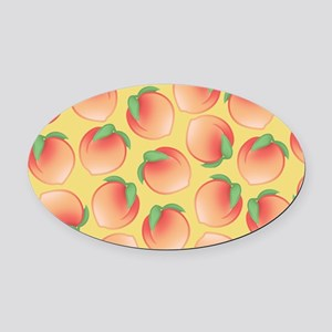 Cute Peach Pattern Oval Car Magnet