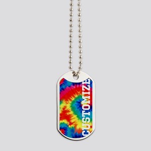 Personalized Retro Tie Dyed Pattern Dog Tags