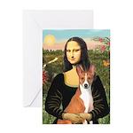 Mona Lisa - Basenji Greeting Card