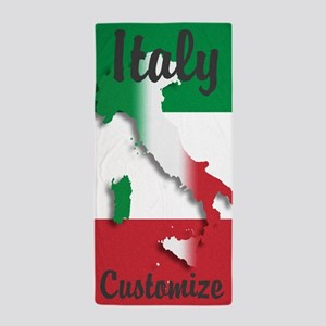 Customized Italy Italian Flag Beach Towel