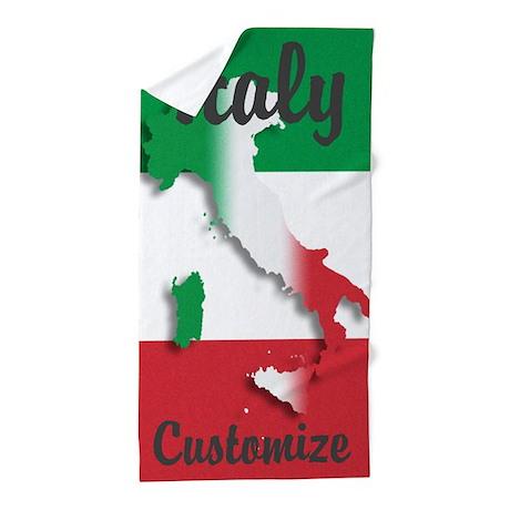 Customized Italy Italian Flag Beach Towel