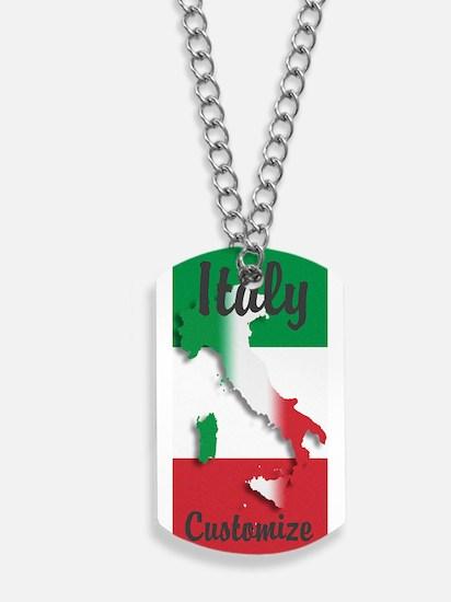 Customized Italy Italian Flag Dog Tags
