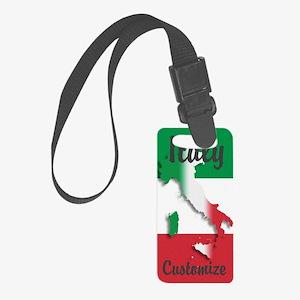 Customized Italy Italian Flag Luggage Tag