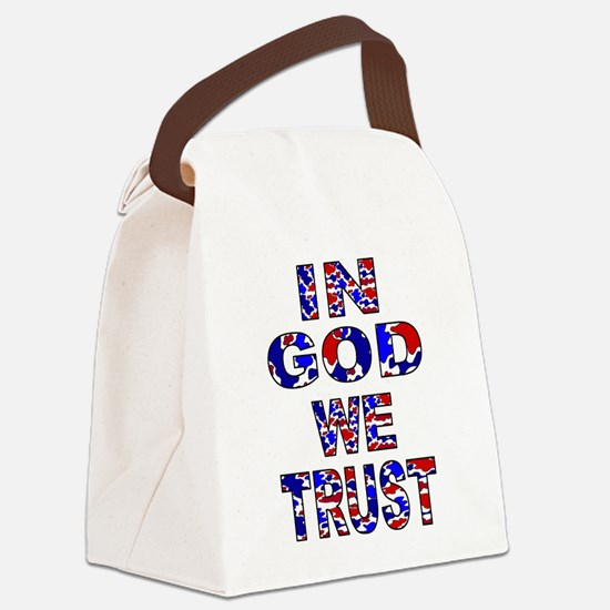 In God camo Canvas Lunch Bag