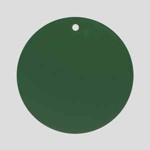 Solid Hunter Green Ornament (Round)