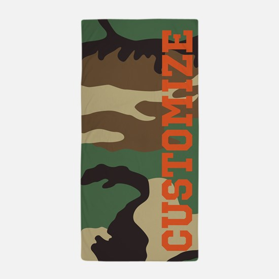 Personalized Camouflage Print Beach Towel