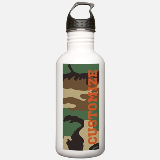 Personalized Camouflage Print Water Bottle