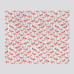 Flamingo Party Throw Blanket