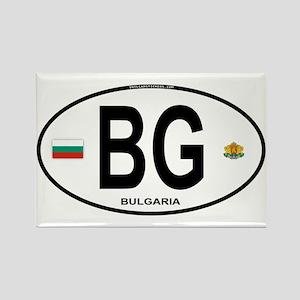 Bulgaria Euro Oval Rectangle Magnet